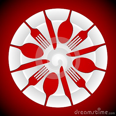 Plate and cutlery shapes