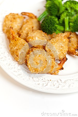 Deep Fried Shrimps with Broccoli