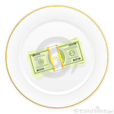 Plate and dollar pack