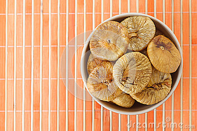 Plate with dried figs
