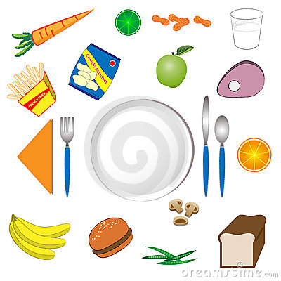 Plate and Food