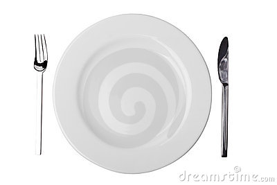 Plate, Fork and Table Knife