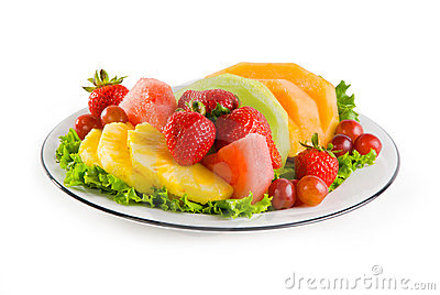 Plate Of Fruit Royalty Free Stock Photos Image 22349348