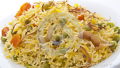 Plate full of rice