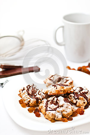 Plate with homemade cookies