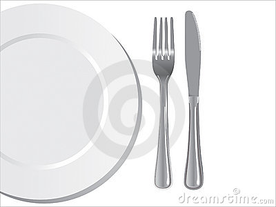 Plate knife and fork