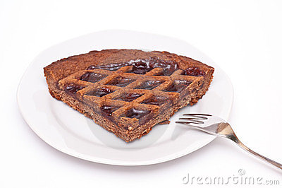 Plate with linzer torte