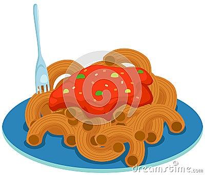 A plate of macaroni