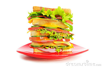Plate with sandwich isolated