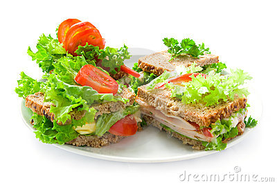 Plate with sandwiches