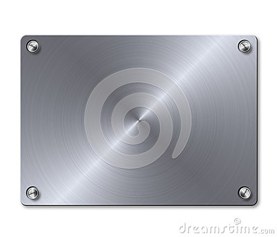 Plate with screws template