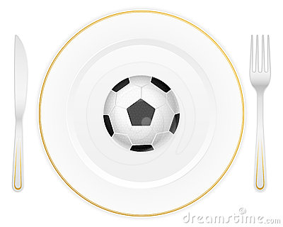 Plate and soccer ball