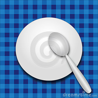Plate and spoon