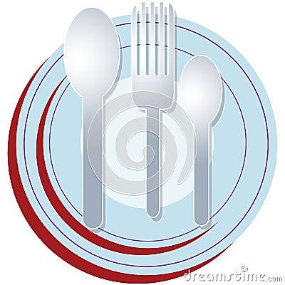 Plate spoon fork