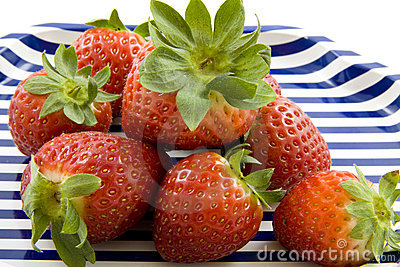 Plate with strawberries
