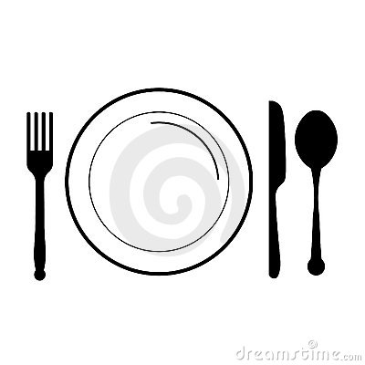 Free Plate With Fork, Knife ,spoon Royalty Free Stock Images - 13153409