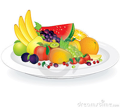 Free Plate With Fruits Royalty Free Stock Images - 19946549