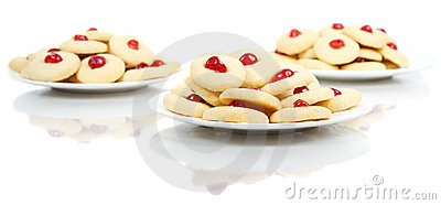Plates of homemade cookies