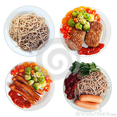 Free Plates With Fast Food Stock Photos - 29724513