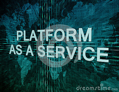 Platform as a Service Stock Photo