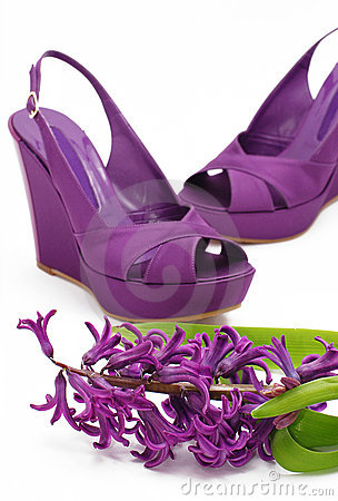 Platform shoes and hyacinth