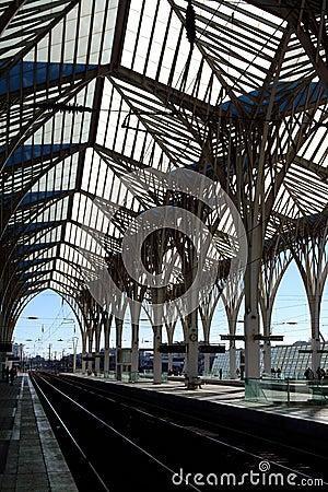 Platform of a train station