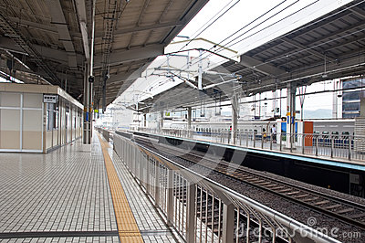 Platforms at Kyoto Station