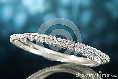 Platinum Diamond Bangles