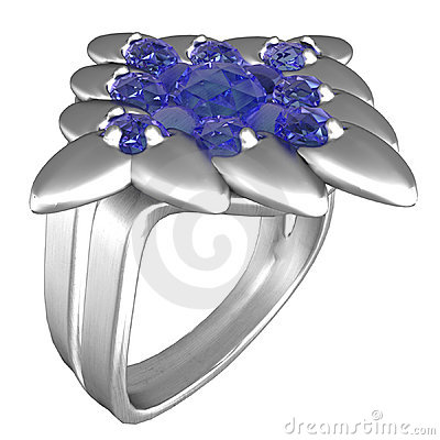 Platinum Ring with Sapphires