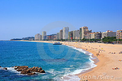 Platja d Aro beach (Costa Brava, Spain)