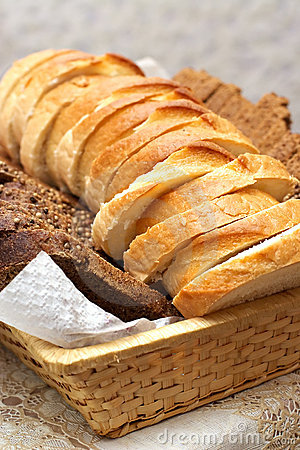 Plato con las rebanadas de pan