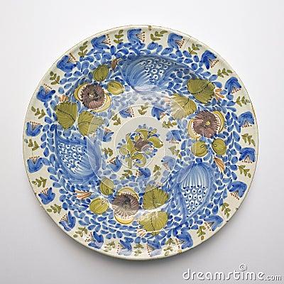 Plato de cer mica viejo de talavera espa a circa siglo xix for Ceramica talavera madrid