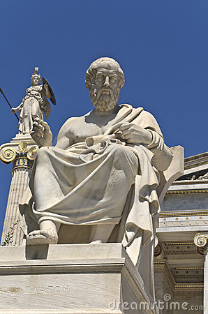 Plato statue at the Academy of Athens, Greece