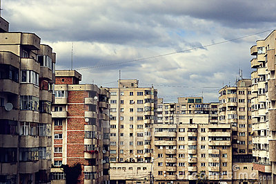 Plattenbau buildings