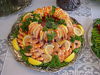 Platter of shrimp