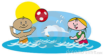 Play the ball in sea