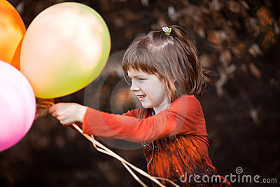 Play with baloons
