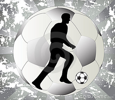 Play black and white football