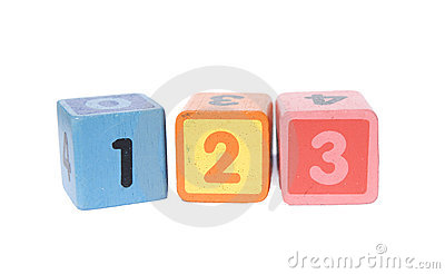 Play blocks with 123 numbers