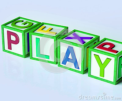 Play Blocks Show Fun Enjoyment And Games