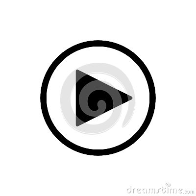 Free Play Button. Vector Icon In Linear Style Isolated On White. Audio Or Video Icon. Royalty Free Stock Images - 92569439