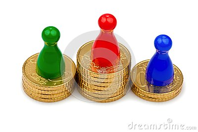 Play figures on coins
