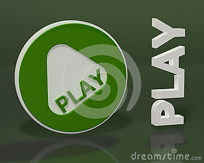 Play form on dark green background