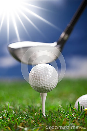 Play golf! ball and bat