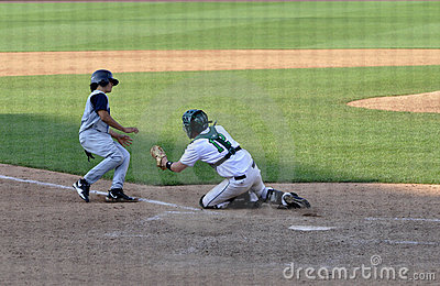 Play at homeplate Editorial Image