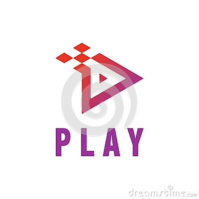 Free Play Icon Video And Music Application Button Design. Creative Template Logo Vector Illustration Royalty Free Stock Photos - 107987098