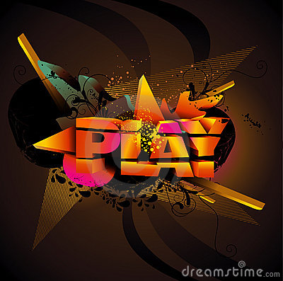 Play Text Royalty Free Stock Image - Image: 18010356