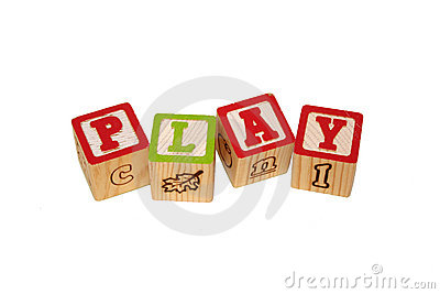 Play Time Blocks Isolated on White