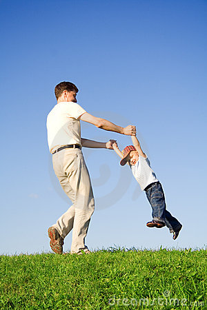 Free Play With Father Stock Photo - 1171140