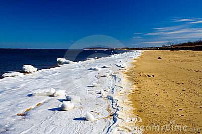 Playa congelada